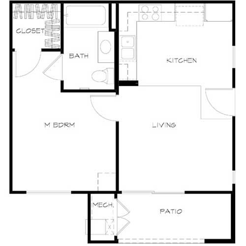 unit A Floor plan