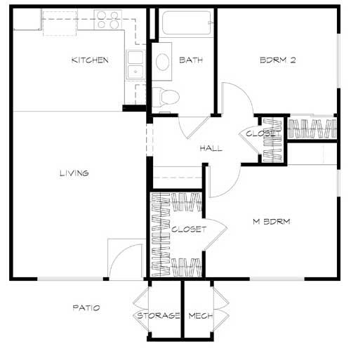 unit B Floor plan